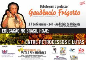 Cartaz debate Frigotto FB