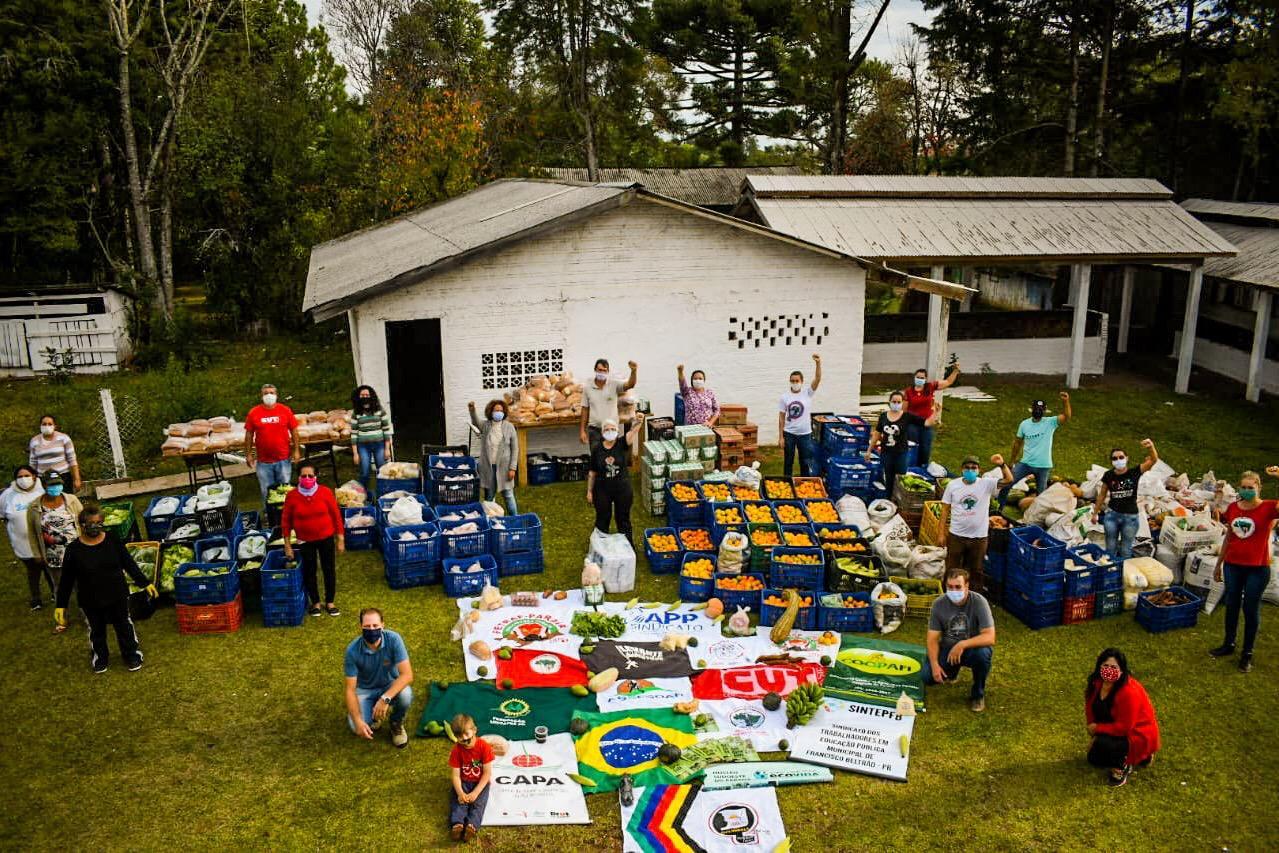 União e solidariedade: organizações doam 12 toneladas de alimentos no sudoeste do PR