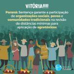 Sentença garante participação de comunidades tradicionais na revisão de distância mínima para agrotóxicos