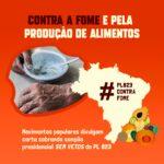Coalizão contra a fome cobra sanção de medidas para a agricultura familiar camponesa